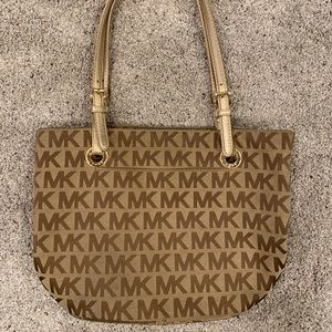 Michael Kors purse with gold strap